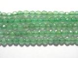 Нить Бисера из авантюрина зеленого, шар граненый 3мм