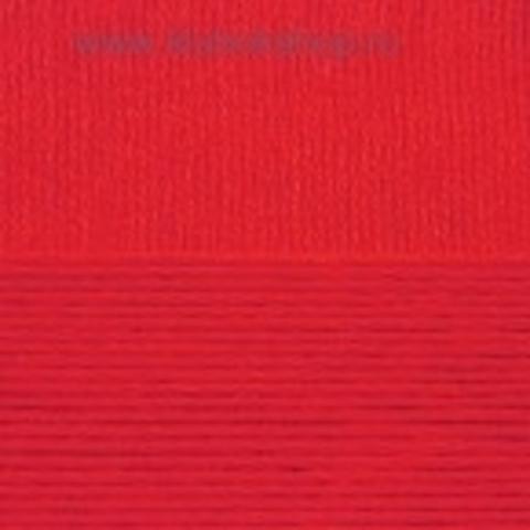 Пряжа Хлопок натуральный (Пехорка) Красный 06