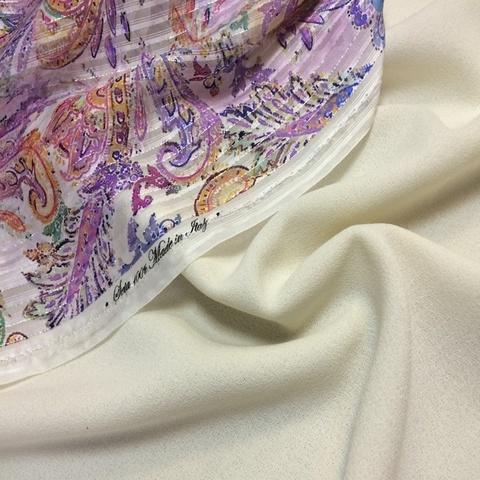 Ткань шерсть креп топленое молоко 3082