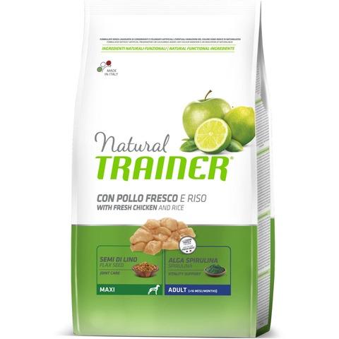 Сухой корм Trainer Natural Dog Maxi Adult - Fresh Chicken and Rice 12 кг.