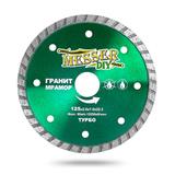 Алмазный турбо диск MESSER-DIY диаметр 125 мм для резки гранита и мрамора