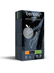 Перчатки медицинские смотровые нитриловые Benovy нестерильные неопудренные размер М Черные (50 пар в упаковке) Сочи, Новороссийск