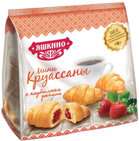 """Круассан мини """"Яшкино"""" с клубничным джемом 180 г"""