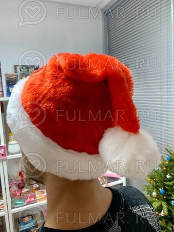 Новогодний колпак-шапка (Цвет: светло Красный)