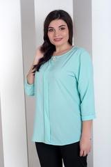 Лиза. Стильная блуза больших размеров. Мята