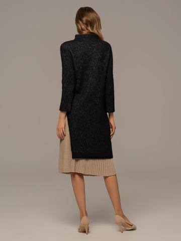 Женская юбка-плиссе золотого цвета из вискозы - фото 3