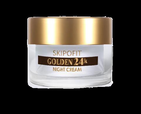 Крем ночной для лица с золотом SKIPOFIT GOLDEN 24k 50 мл НИИ Натуротерапии