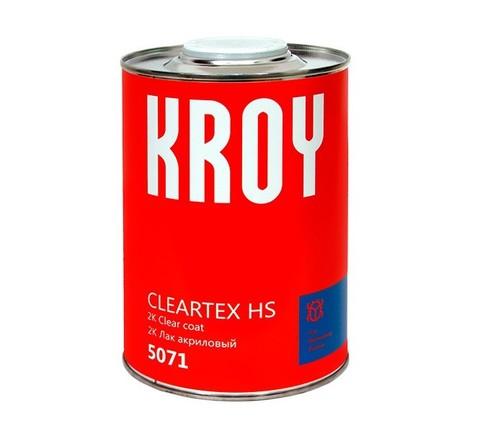 5071 KROY 2K  CLEARTEX HS акриловый лак - 1 л.+ отверд. H3 KROY 2K Hardener HS 0,5 л