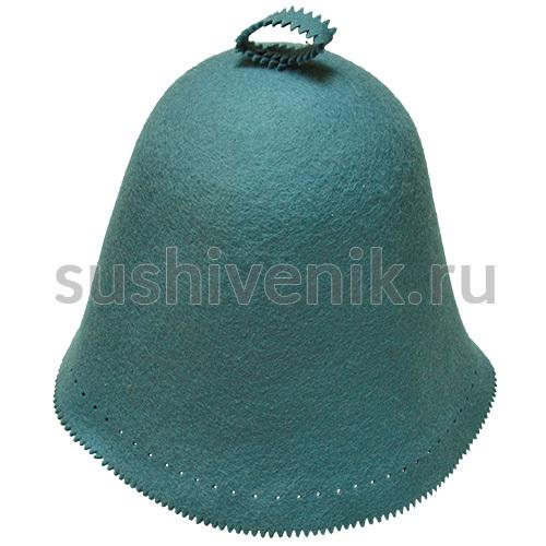 Фетровый колпак банный голубой