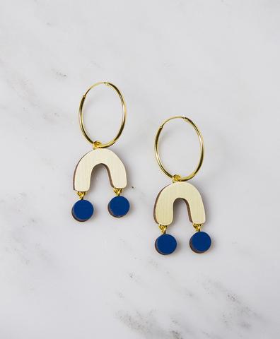 Серьги Miro Hoops Cobalt Blue