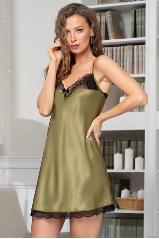 Сорочка Olivia 3641 оливковый Mia-Amore