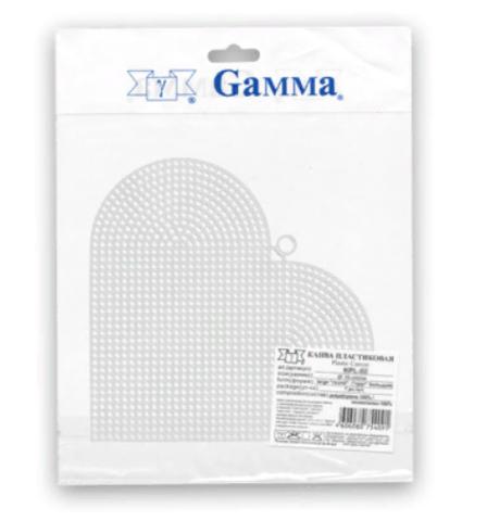 Канва Сердце Гамма KPL-04 пластиковая 15х17 см