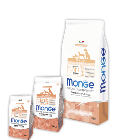 Monge Speciality Line Puppy&Junior All Breeds Salmone and Rice