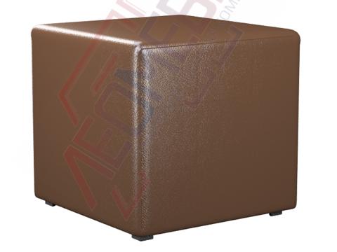 Пф-01 Пуфик квадратный (коричневый)
