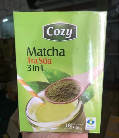 Пудровый чай матча Cozy со сливками 3в1 - Коробка 30х18 уп.