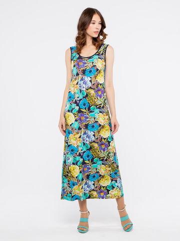Фото удлиненное платье без рукавов свободного покроя - Платье З293а-276 (1)