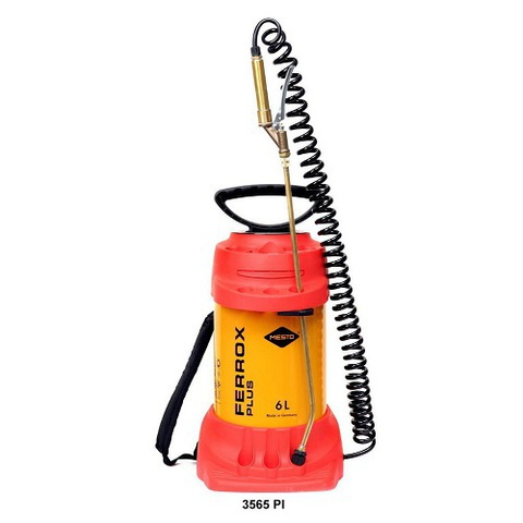 MESTO распылитель FERROX PLUS 3565РI,6л, латунный вентиль-пистолет, спиральный шланг