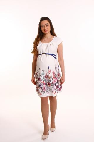 Платье для беременных 08783 кремовый