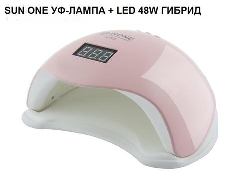 Светодиодная LED лампа SUNUV 5 48W с цифровым дисплеем, розовая