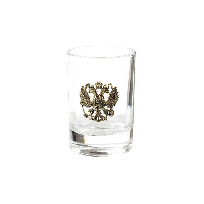 Набор коллекционных сувенирных рюмок «Герб РФ» 6 шт