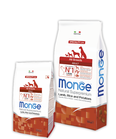 Monge Speciality Line Adult Dog All Breeds Lamb, Rice and Potatoes