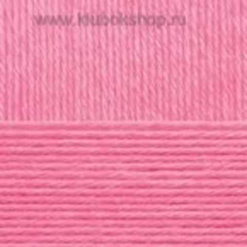 Пряжа Хлопок натуральный (Пехорка) ярко-розовый 11