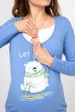 Футболка для беременных 08017 синий