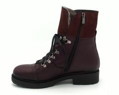 Бордовые ботинки из натуральной кожи