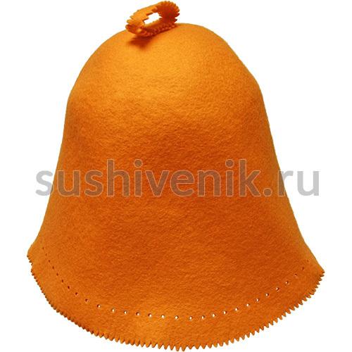 Фетровый колпак банный оранжевый