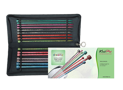 KnitPro Dreamz Набор прямых спиц 25 см