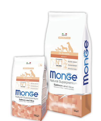 Monge Speciality Line Adult Dog All Breeds Salmone and Rice