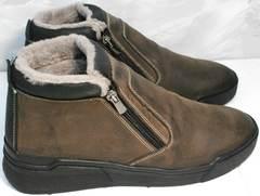Мужские зимние ботинки Rifellini Rovigo 046 Brown Black.