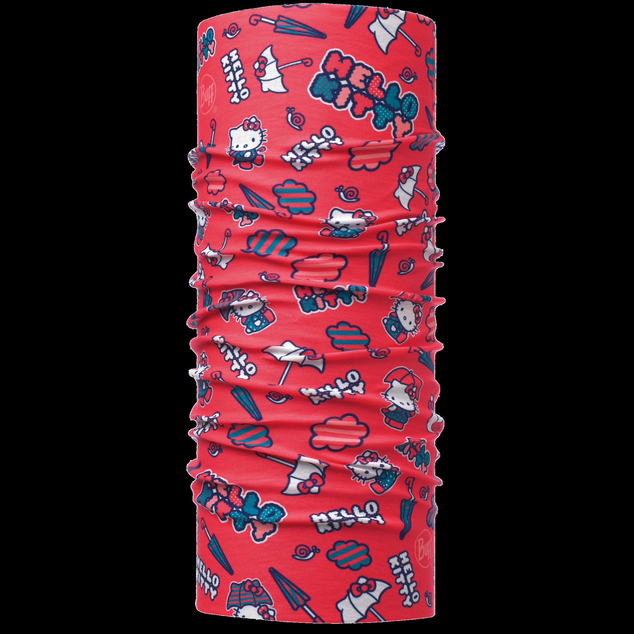 Детские банданы Многофункциональная бандана-трансформер детская Buff Umbrella Coral Red 115419.423.10.png