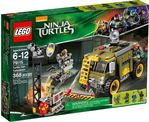 LEGO Teenage Mutant Ninja Turtles: Освобождение фургона черепашек 79115 — Turtle Van Takedown — Лего Черепашки-ниндзя мутанты