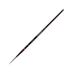 Кисть из синтетики круглая, длинная ручка,