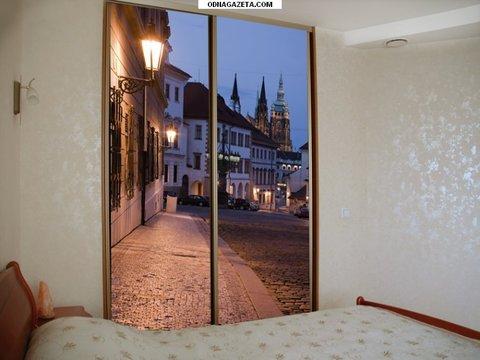 Шкаф двухдверный с фотопечатью, ширина 140 см