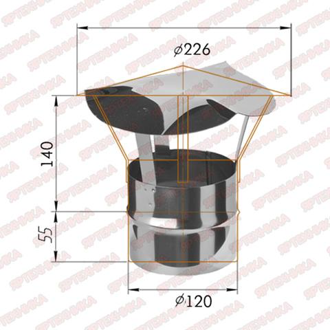 Зонт-К d120мм (430/0,5мм) Ferrum в интернет-магазине ЯрТехника