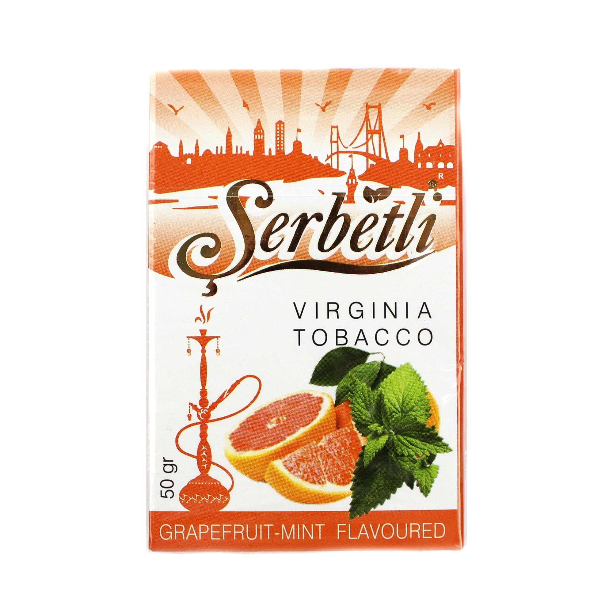 Табак для кальяна Serbetli Grapefruit with mint 50 гр.