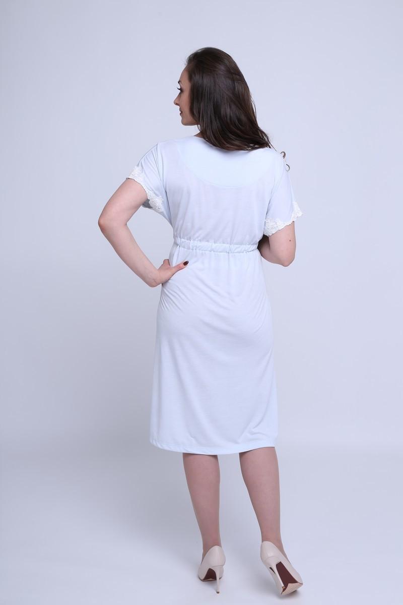Ночная сорочка для беременных и кормящих 09601 голубой