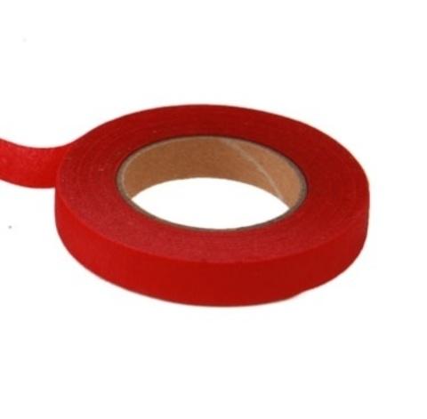 Тейп Лента 13мм*28м, цвет:красный, Китай