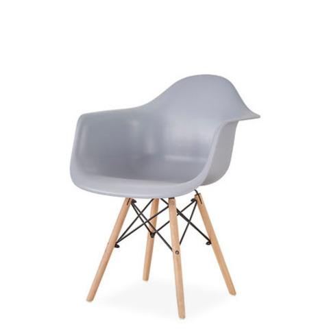 Стул-кресло DAW Eames by Vitra (серый)
