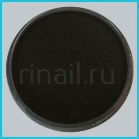 Цветная акриловая пудра Черная с микроблестками