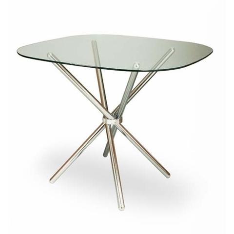 Стол обеденный DS-6045 стеклянный квадратный хром