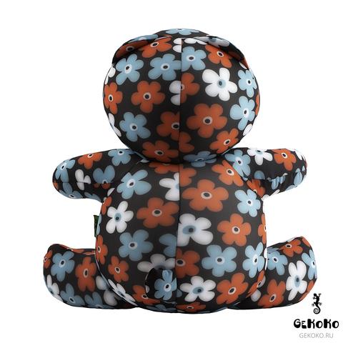 Подушка-игрушка антистресс «Цветочный Мишка» 4