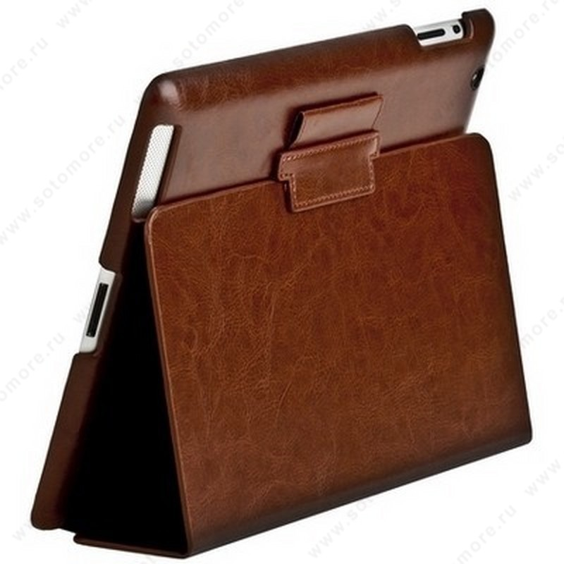Чехол-книжка Sotomore для Apple iPad 4/ 3/ 2 - темно-коричневый 6456