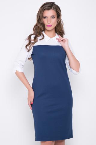 <p>Эффектное офисное платье - футляр. Оригинальный фасон подчеркнет Вашу индивидуальность.</p>