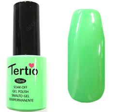 TERТIO ГЕЛЬ ЛАК Т 058 пастельный салатовый, без блесток и перламутра, плотный.
