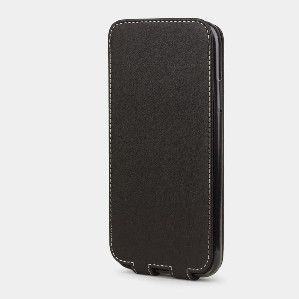 Чехол для iPhone 11 из натуральной кожи теленка, темно-коричневого цвета