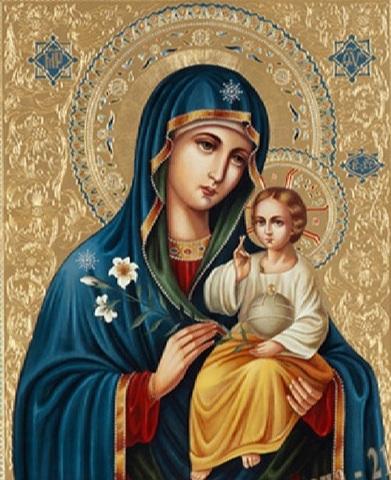 Алмазная Мозаика 50x65 Икона Божией Матери