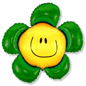 Фольгированный шар Цветочек зеленый 104см